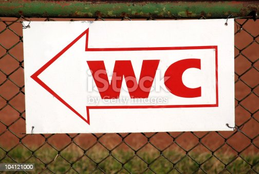 istock wc and toilet sign 104121000