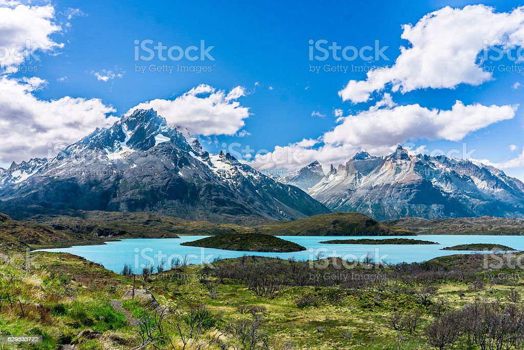 W-Circuit Torres Del Paine, Chile stock photo