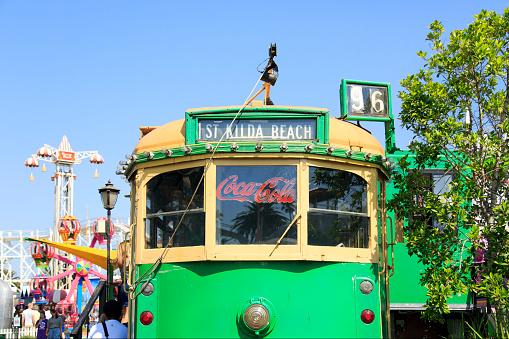 W-Class tram in St Kilda - Melbourne