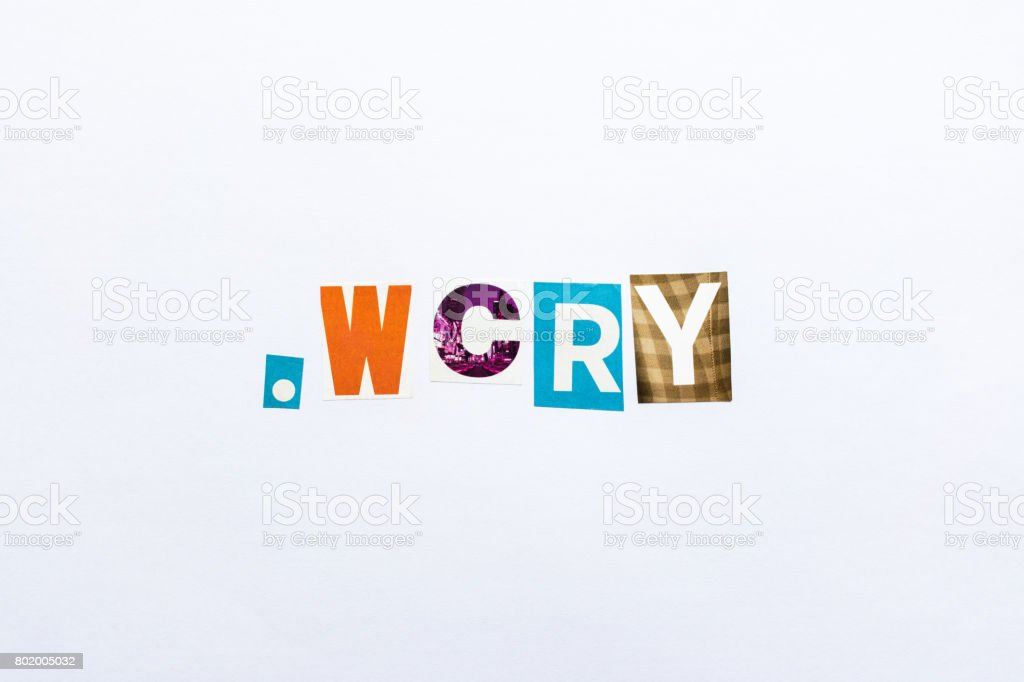 .wcry - note stock photo