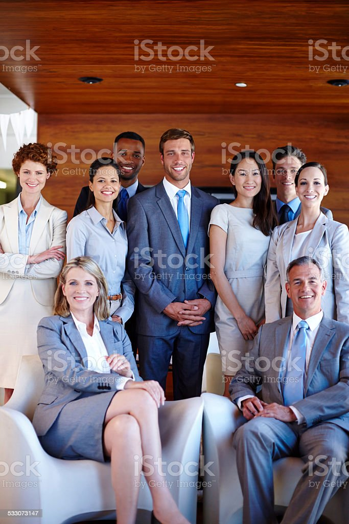 We accept success and nothing less stock photo