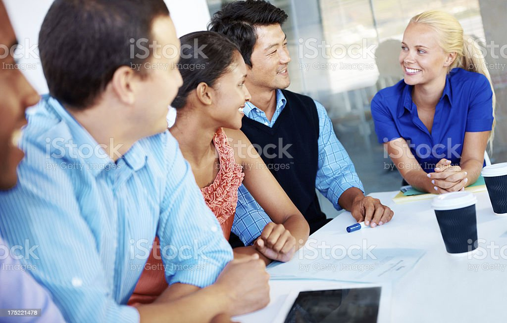 We all brings different skills to the table royalty-free stock photo