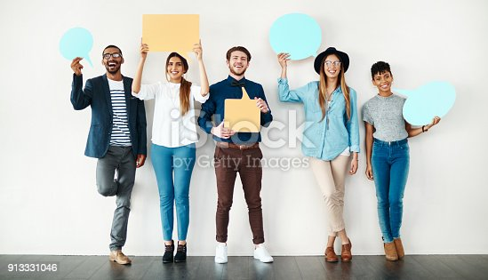855443864 istock photo We all have something to say 913331046
