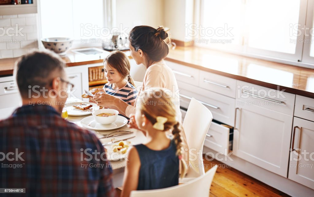 We all like different things for breakfast stock photo