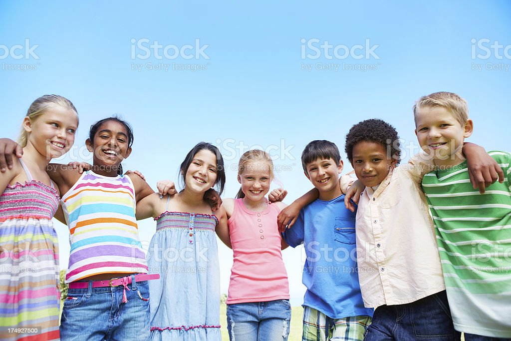 We all stand together stock photo