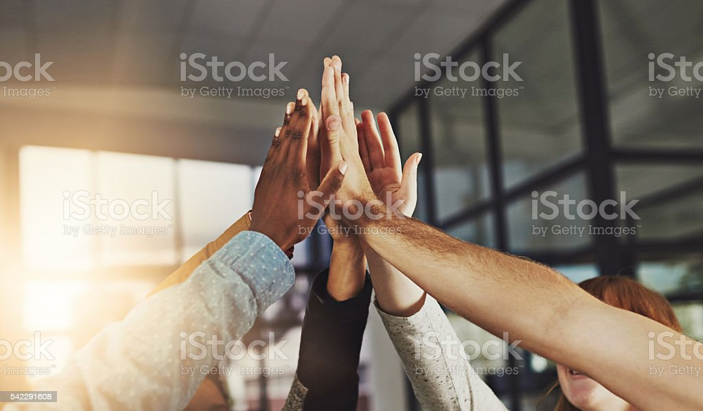 We always win stock photo