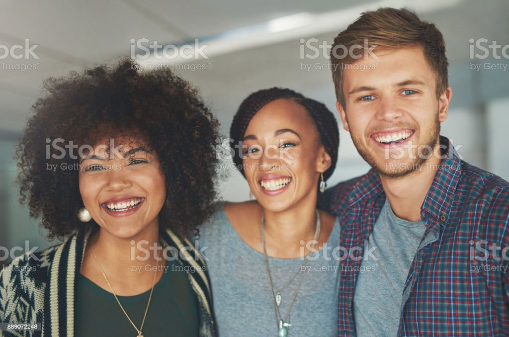 We appreciate each other stock photo