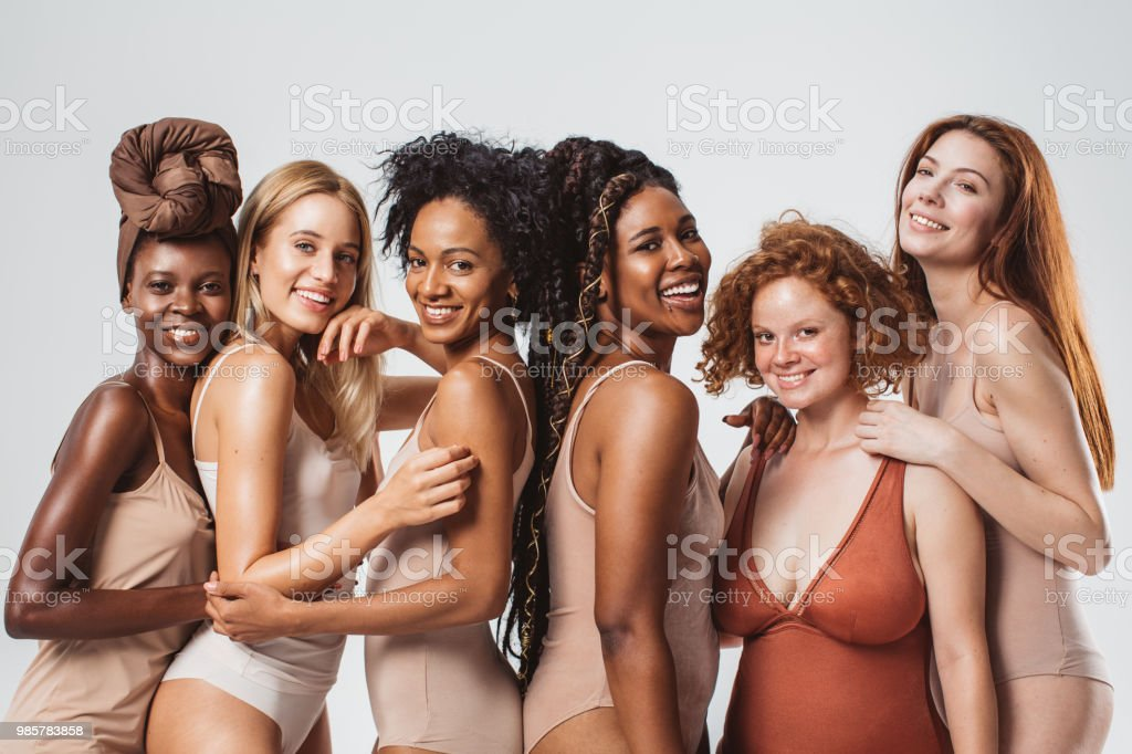 We are different and that's what makes us beautiful stock photo