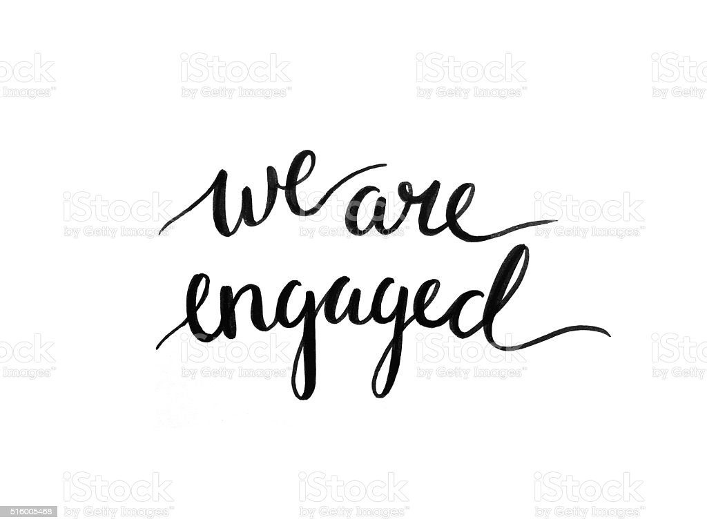 we are engaged stock photo more pictures of announcement message