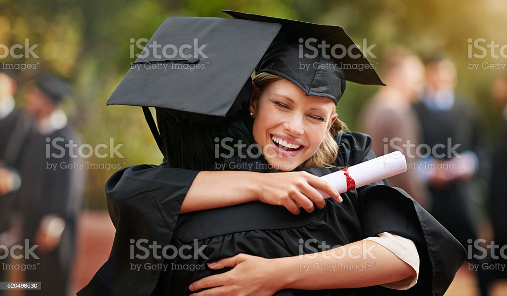 We are finally here! stock photo
