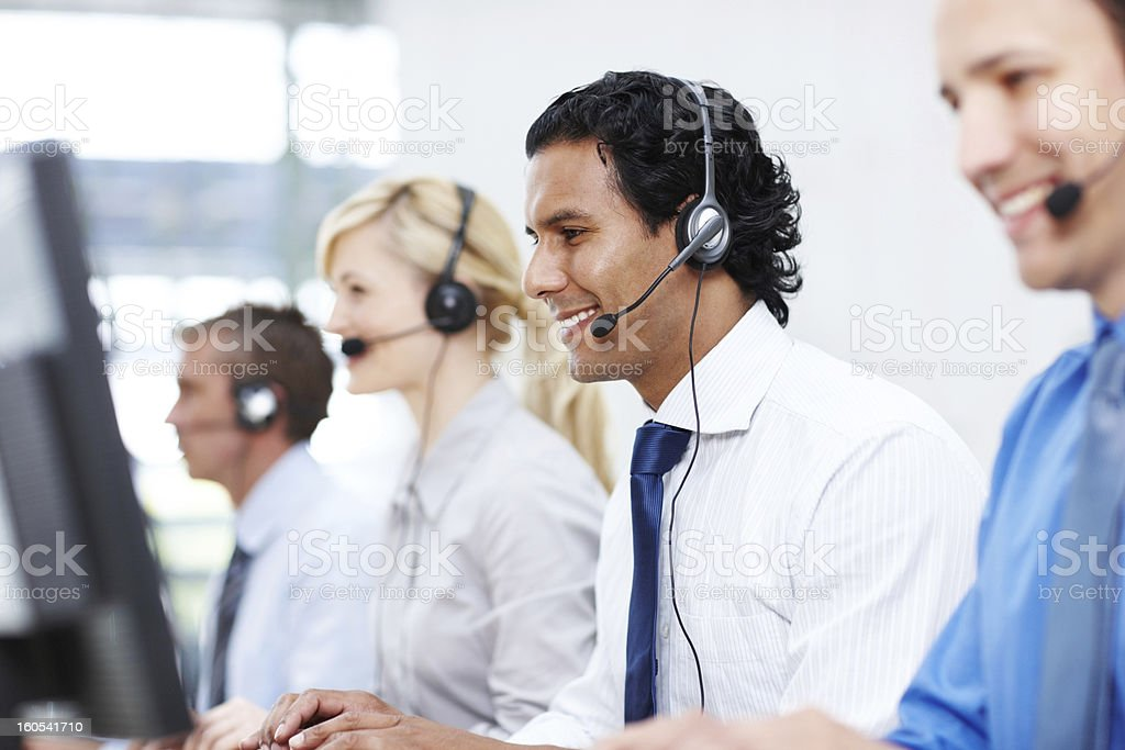 We are here to help, give us a call royalty-free stock photo