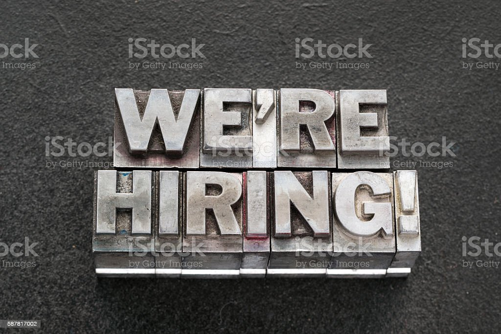 we are hiring bl stock photo