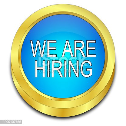 1153648747 istock photo We are hiring Button - 3D illustration 1200107566