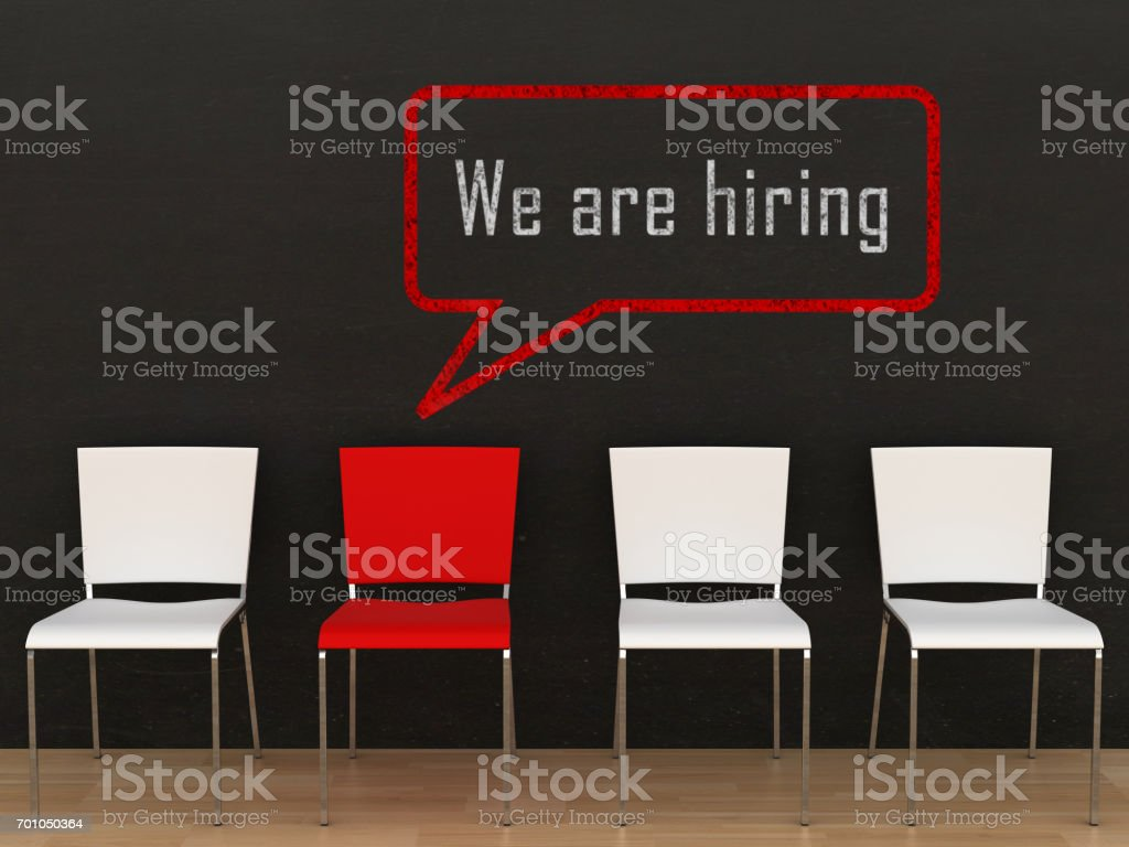 We are hiring job recruitment stock photo