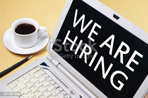 istock We Are Hiring, Motivational Business Recruitment Words Quotes Concept 1071621854