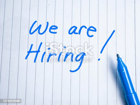istock We Are Hiring, Motivational Business Recruitment Words Quotes Concept 1078928380