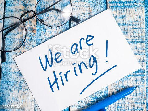 istock We Are Hiring, Motivational Business Recruitment Words Quotes Concept 1079477302
