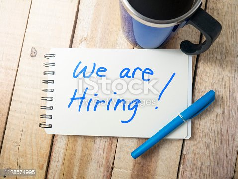 istock We Are Hiring, Motivational Business Recruitment Words Quotes Concept 1128574995