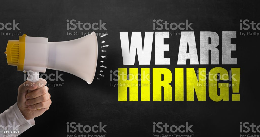 We Are Hiring stock photo