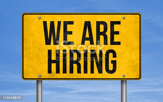 We are hiring - road sign message