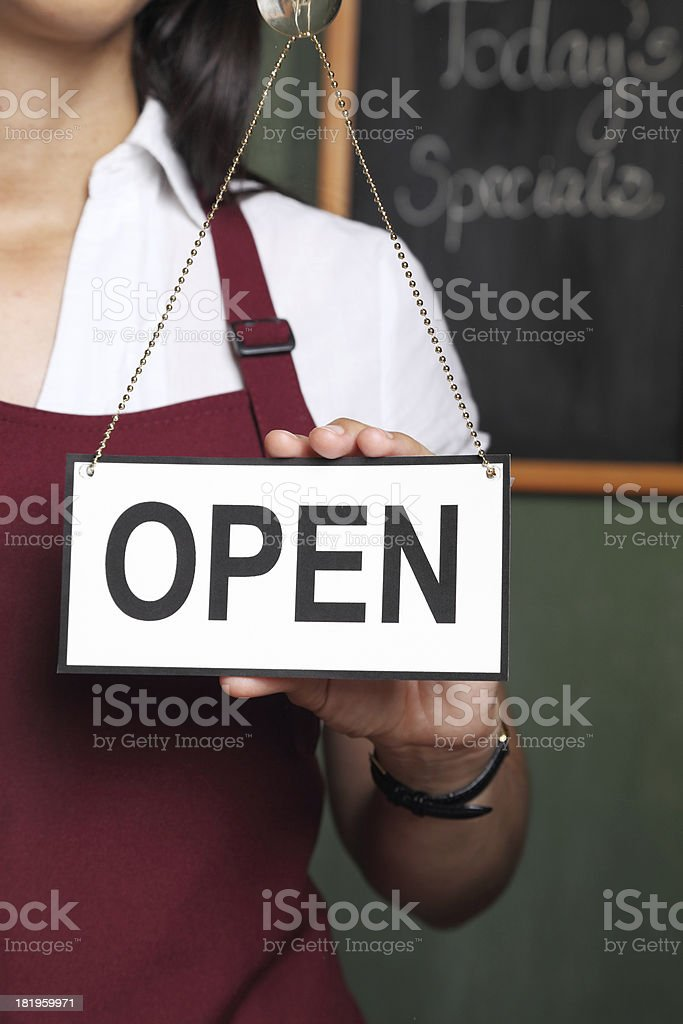 We are open! royalty-free stock photo
