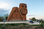 Armenian women take a selfie at the \