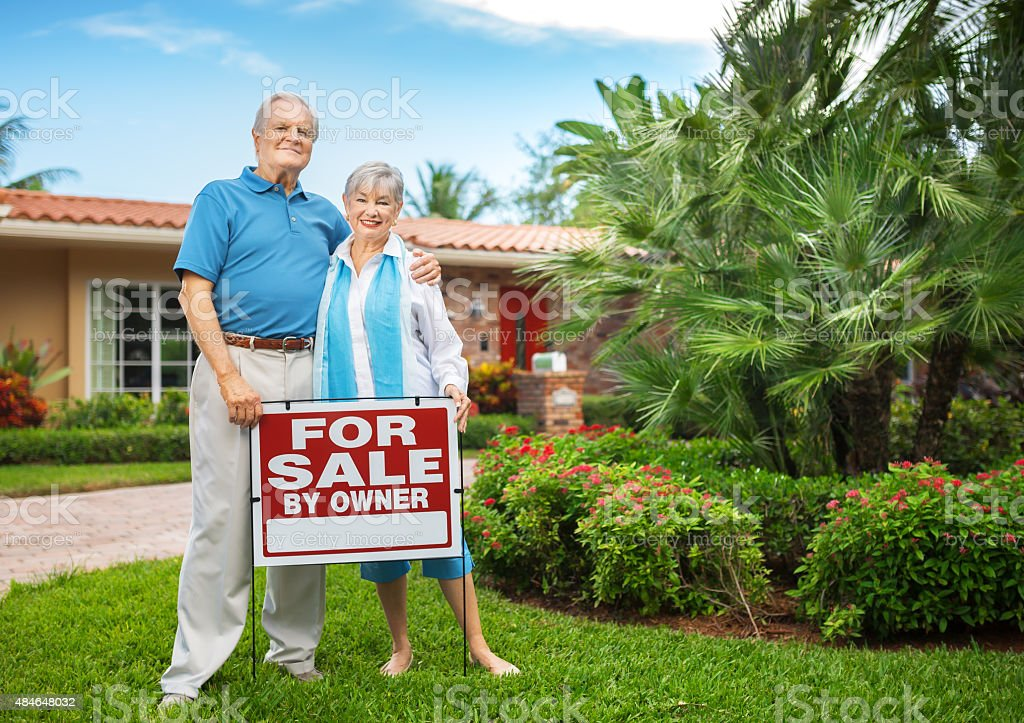 Senior couple selling their big house, and they are happy to move on.