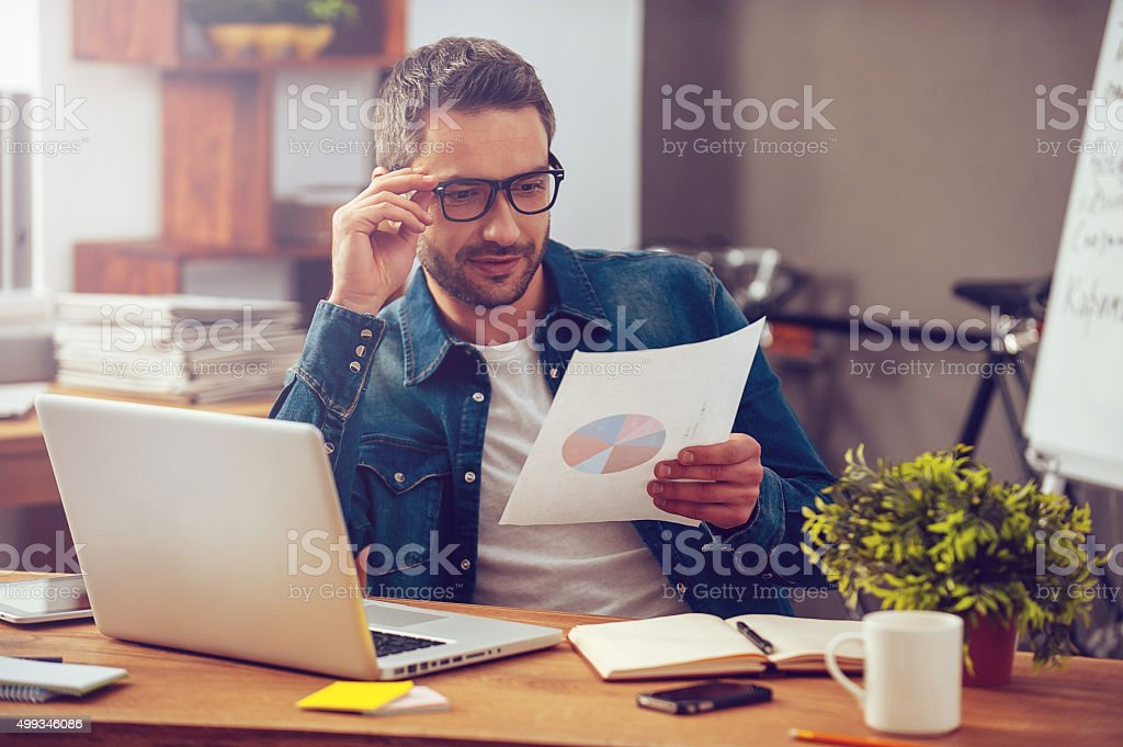 We are showing good results! stock photo