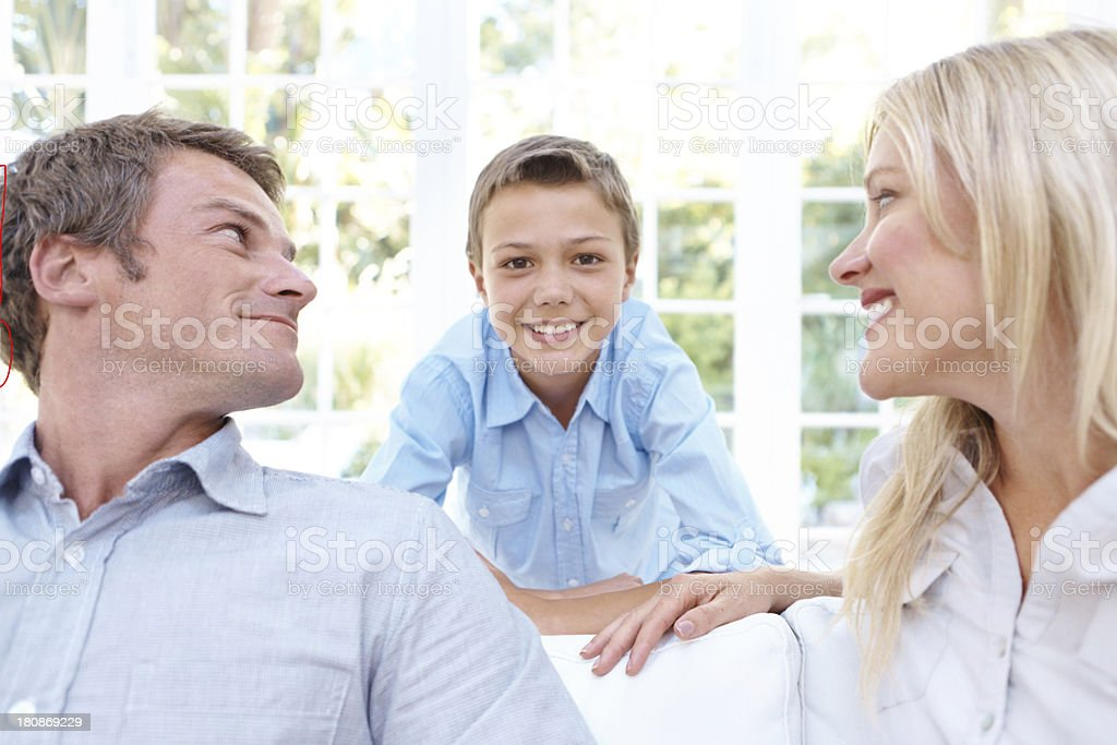 We are so proud of our son royalty-free stock photo