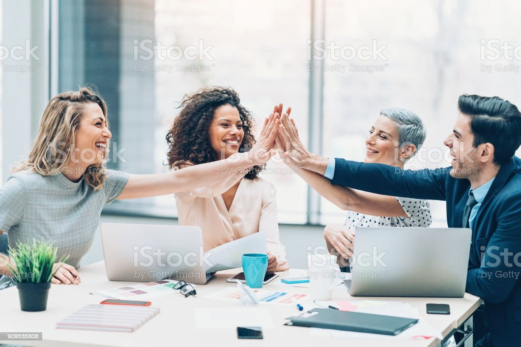 We are the best team! stock photo