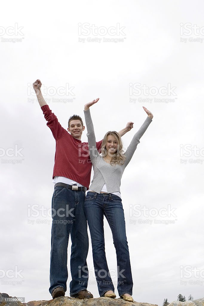We are the champions royalty-free stock photo