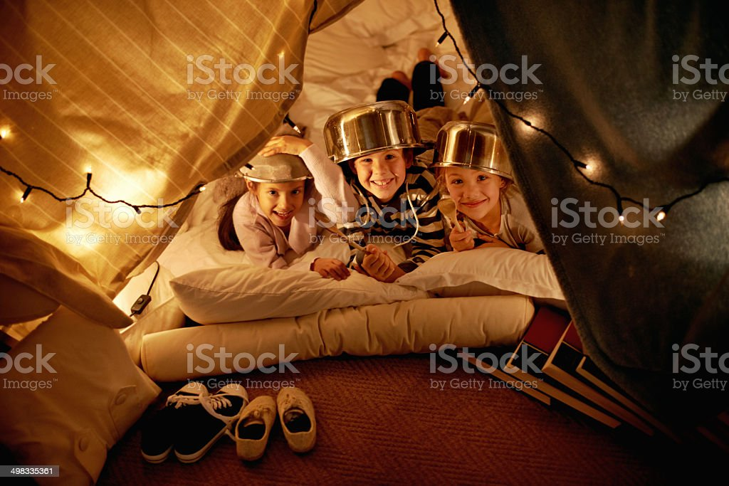 We are the kings around here! stock photo