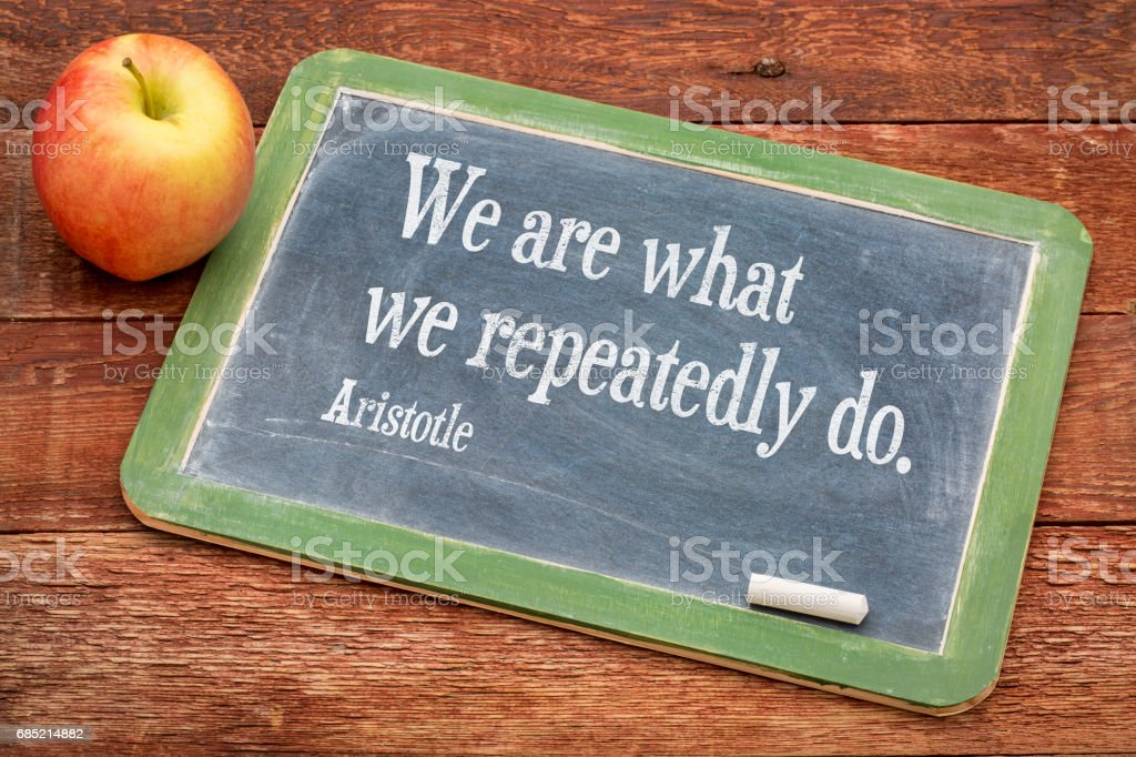We are what ... Aristotle quote – Foto