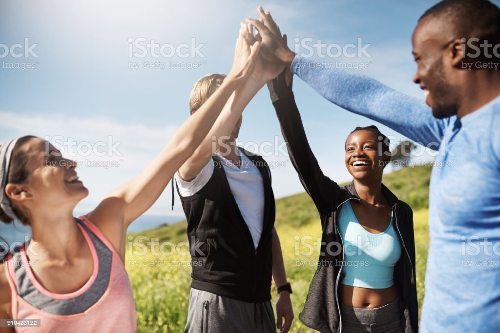 We can do anything we put our mind to stock photo