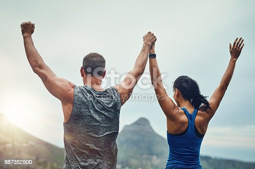 Shot of an unrecognizable couple training for a marathon outdoors