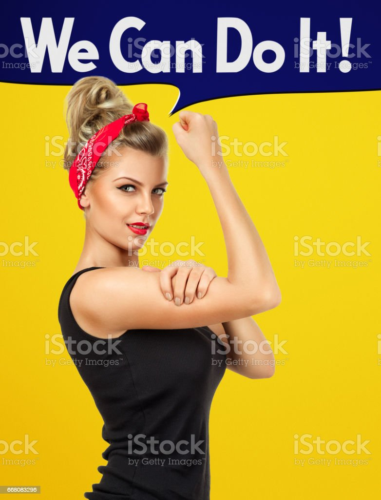 We can do it stock photo