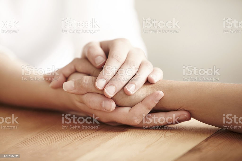 We can get through this together stock photo
