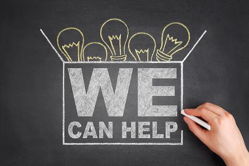 istock We Can Help Concept on Blackboard 484500028