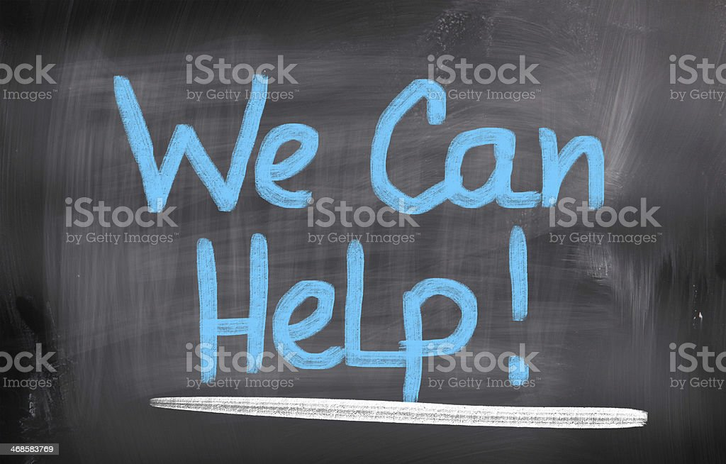 We Can Help Concept stock photo