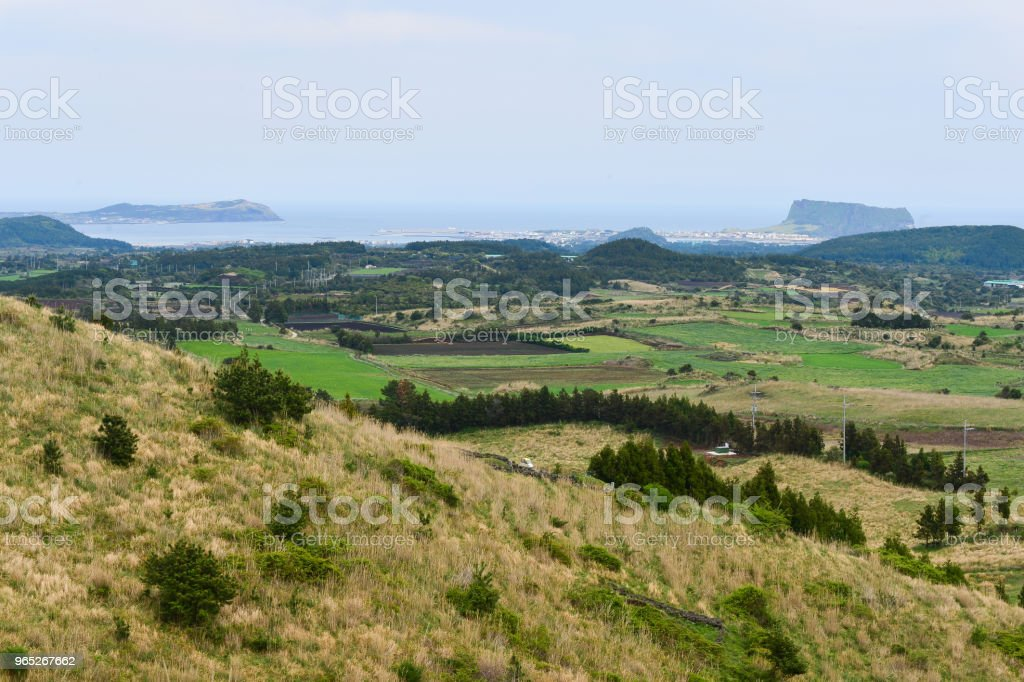 We can see two landforms far away both Wudo and Sungsanbong mountain. royalty-free stock photo
