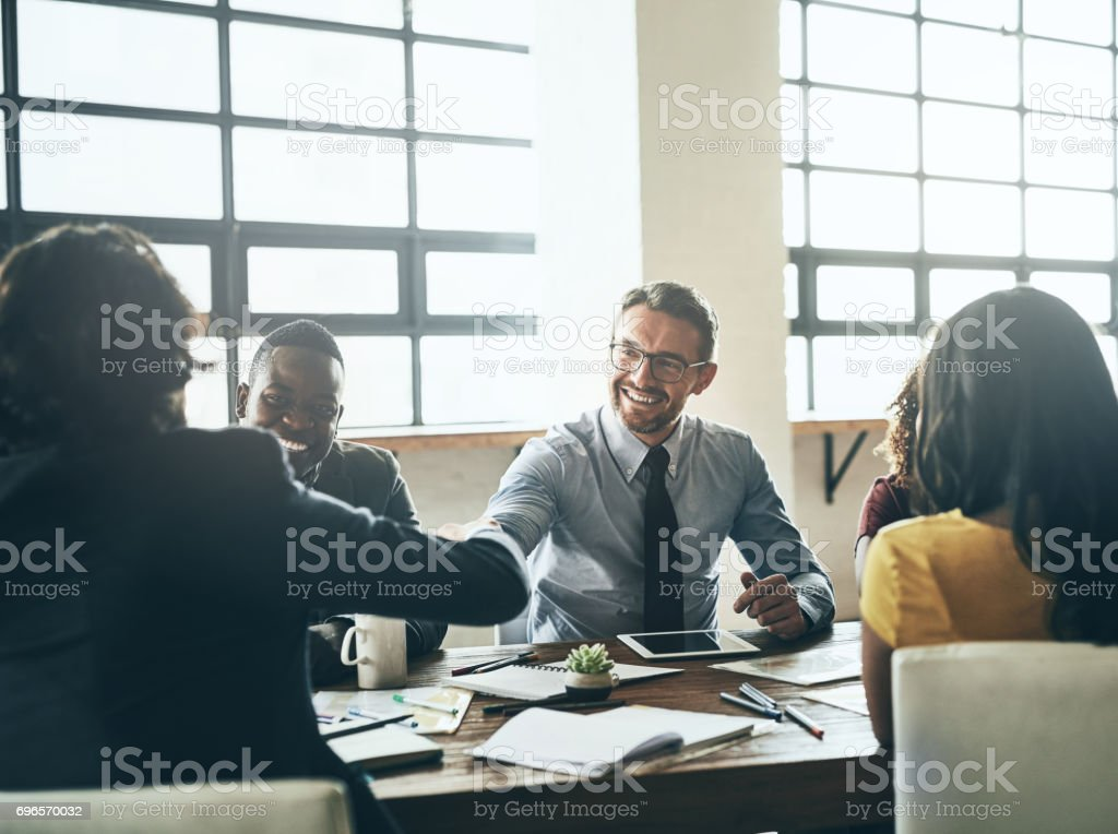We can't wait to work with you stock photo