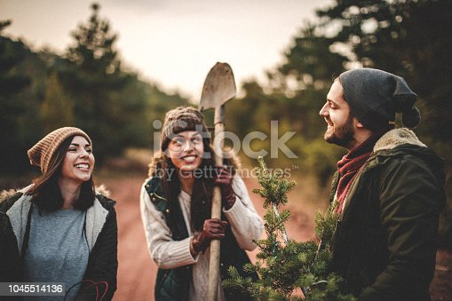 629376126istockphoto We did it and this is our new Christmas tree 1045514136