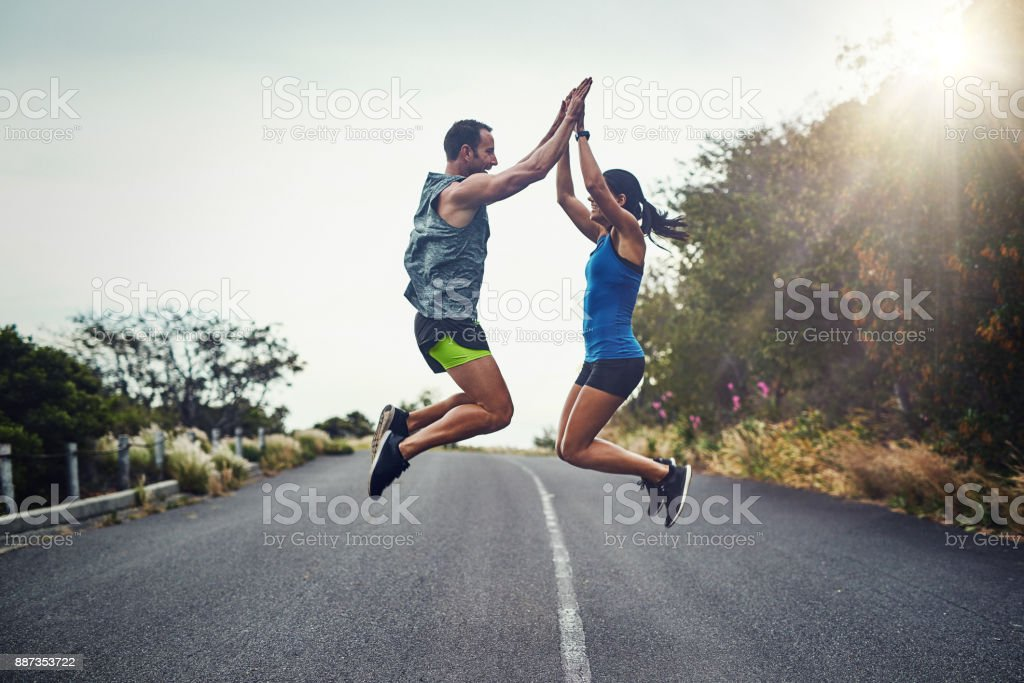 We did it and we did it together - foto stock
