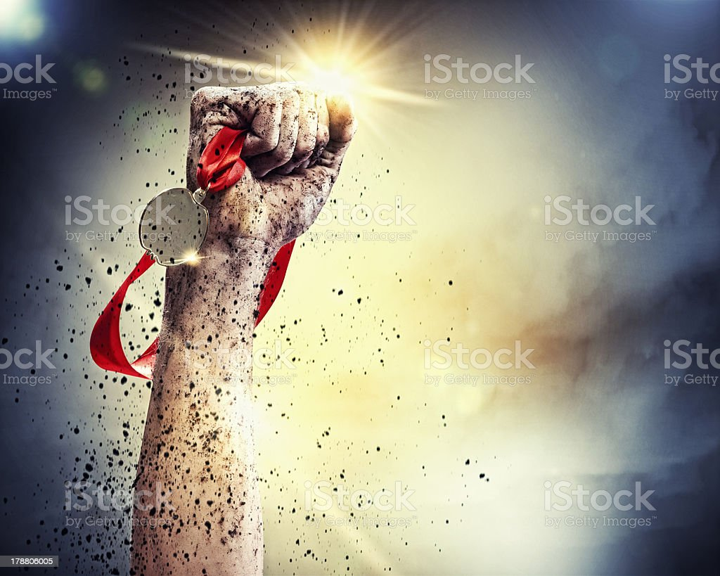 We did it! stock photo