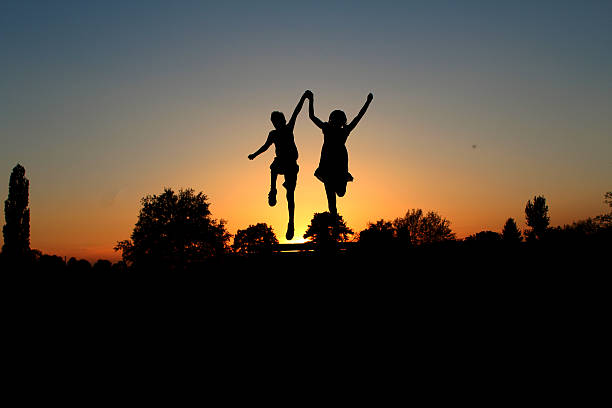 we did it! silhouette abjure stock pictures, royalty-free photos & images