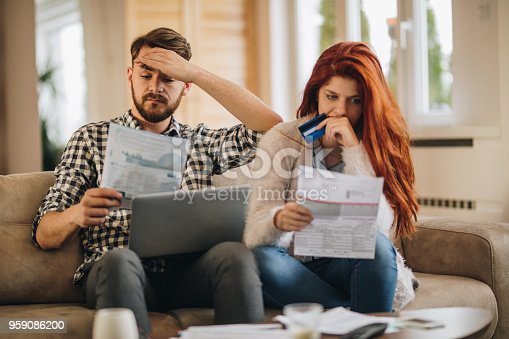 istock We don't have enough money to pay the bills! 959086200