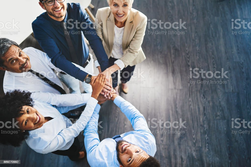 We empower each other stock photo