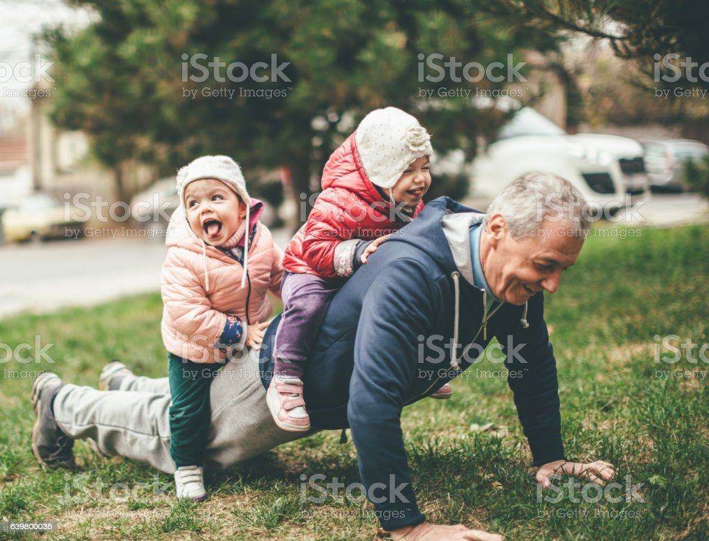 We exercise togather stock photo