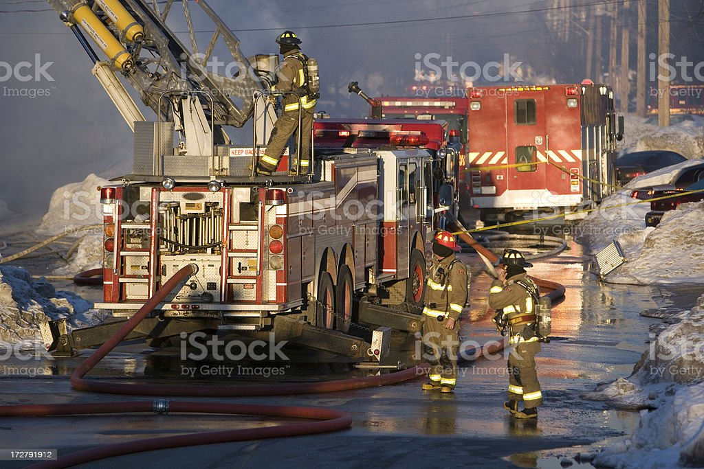 We Fight The Flames stock photo