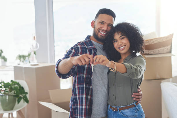 We finally managed to buy our own place stock photo